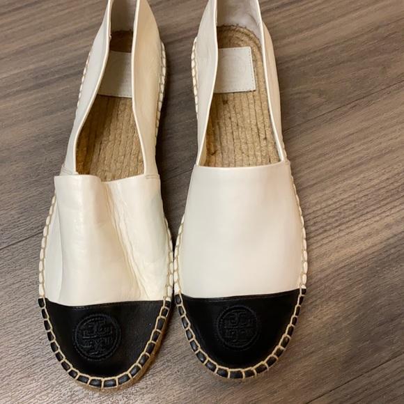 Tory Burch black white shoes